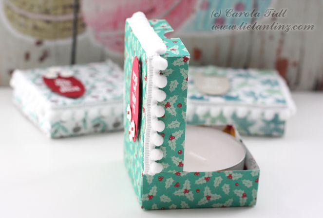 Pizzakarton Teelicht Verpackung Stampin Up 3