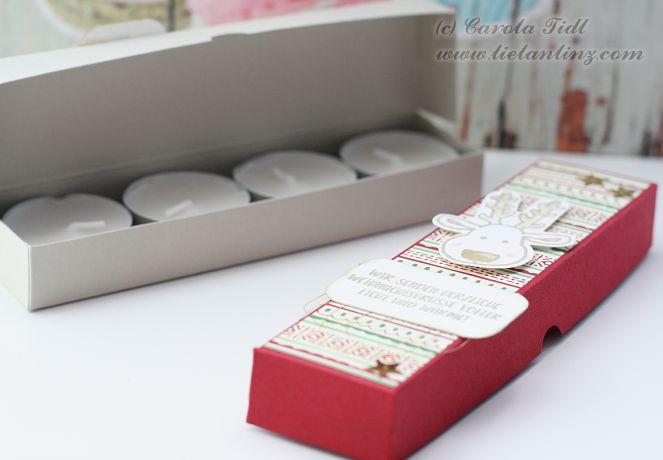 Verpackung für 4 Teelichter Stampin Up Linz Österreich 1