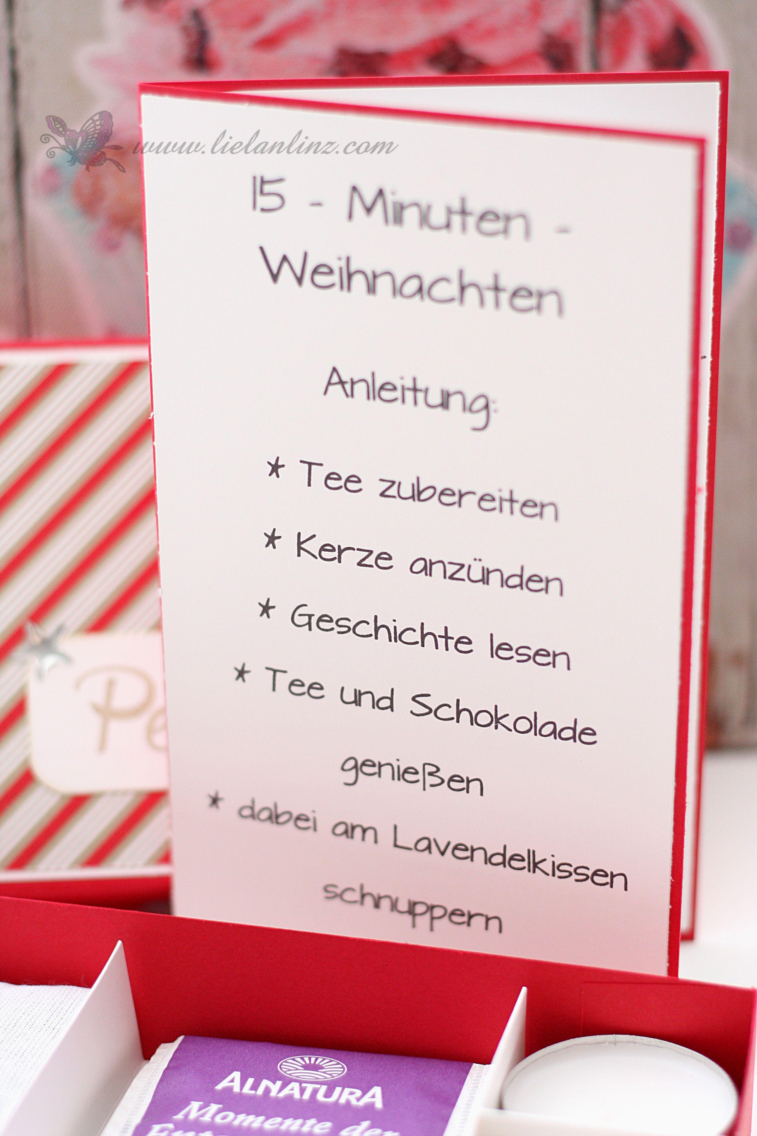 15 Minuten Weihnachten Anleitung.Blog Hop Adventkalender Tür Nr 15 Stampin Up Lielan Linz
