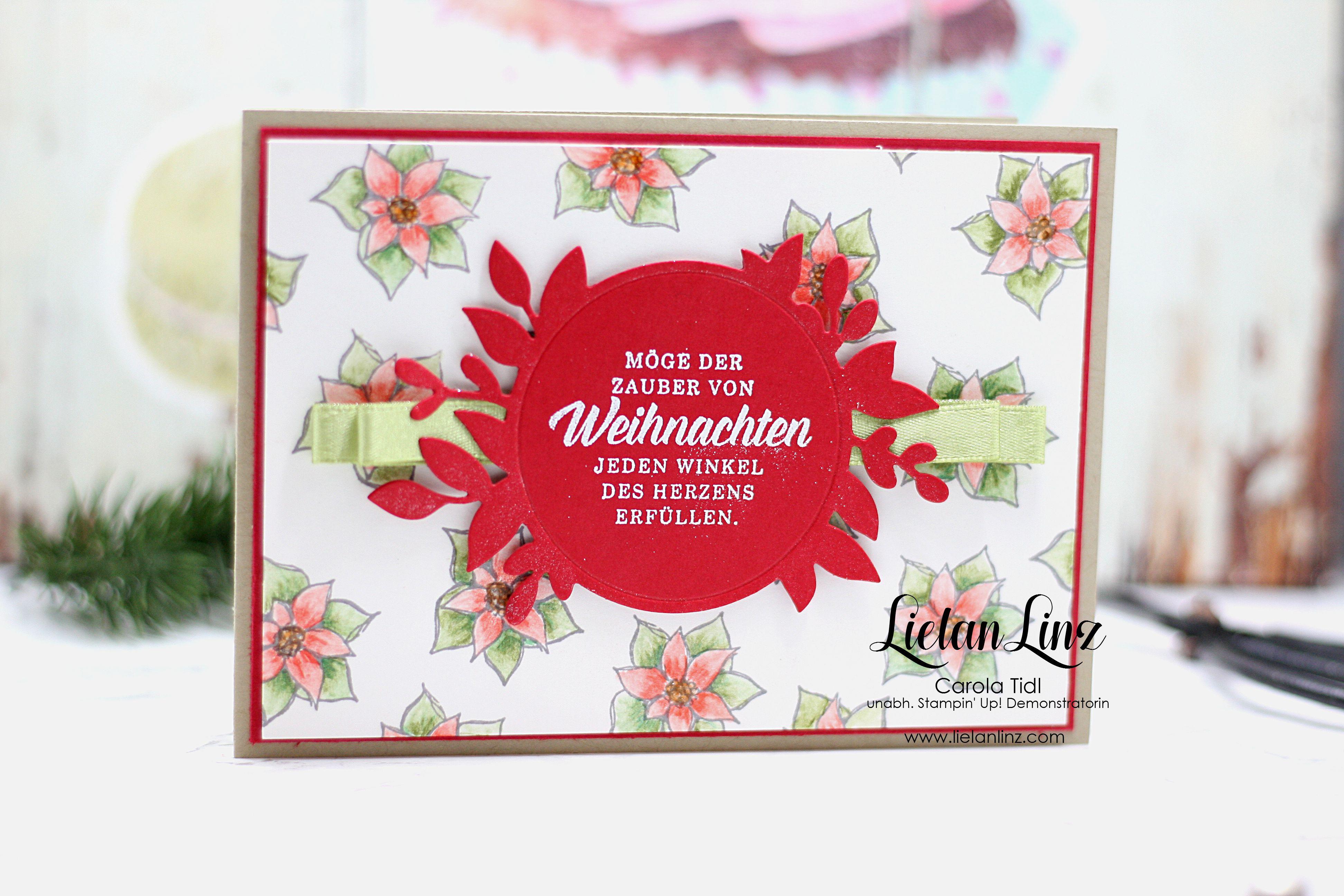 Weihnachtskarte Weihnachtsstern   Stampin\' Up! – Lielan-Linz